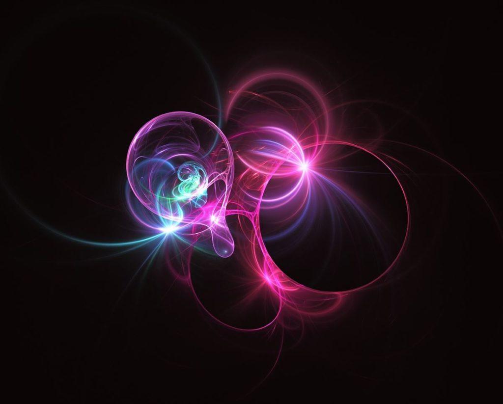 Разноцветные потоки сияющей энергии