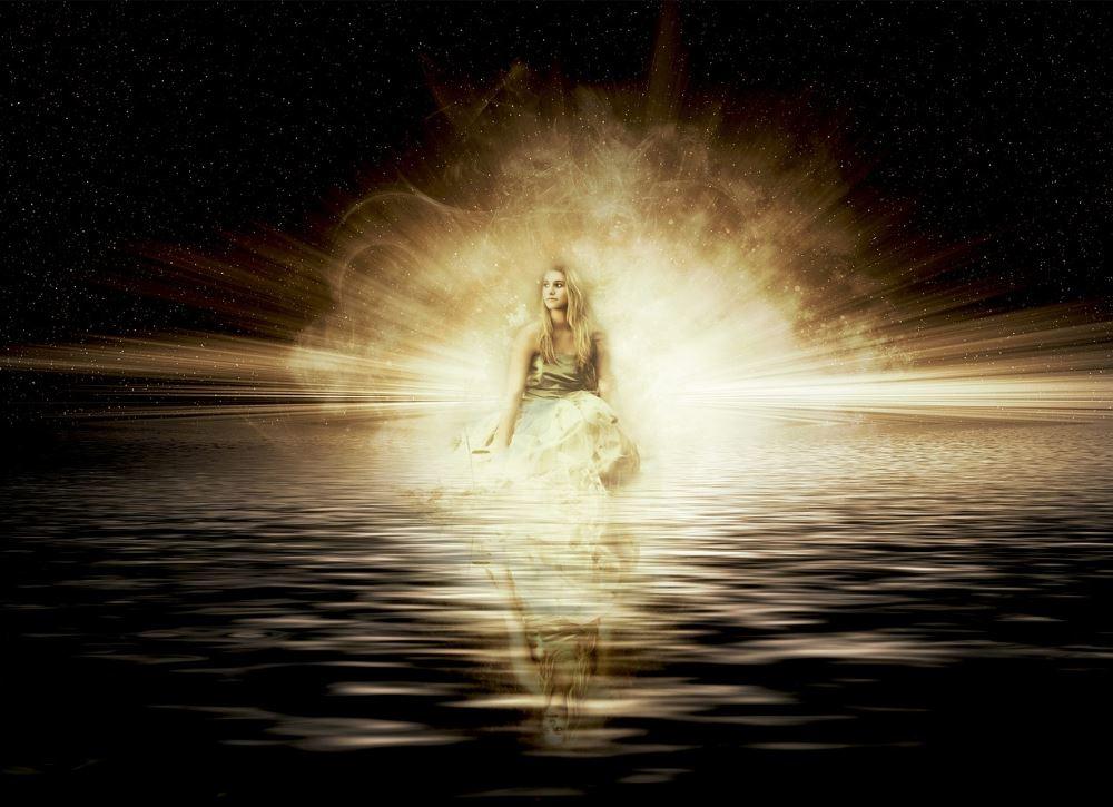 Энергия внутреннего состояния девушки, излучаемая во внешнюю реальность