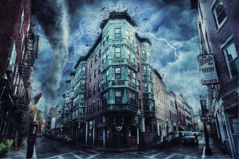 Буря, бушующая в городе
