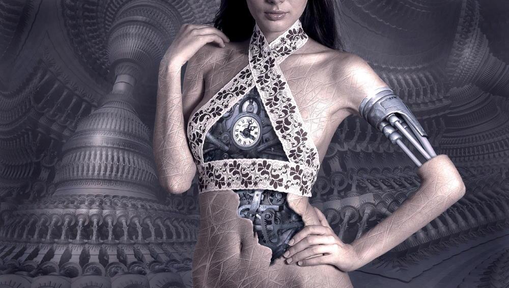 Автоматизм, выведенный на поверхность - механические детали внутри женщины