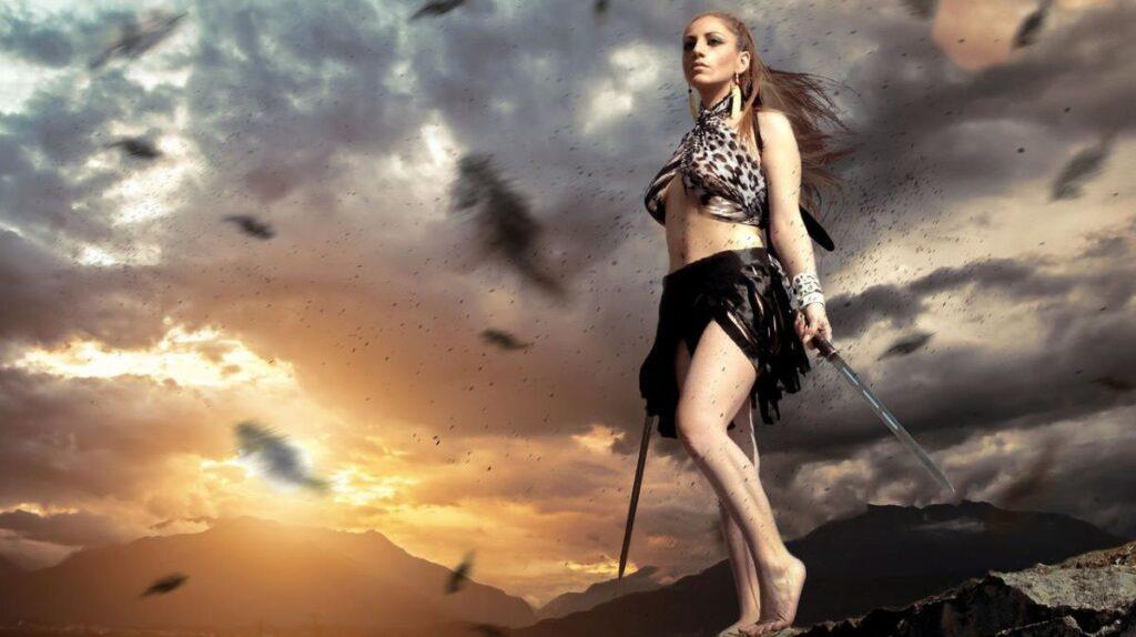 Женщина без страха, готовая к битве