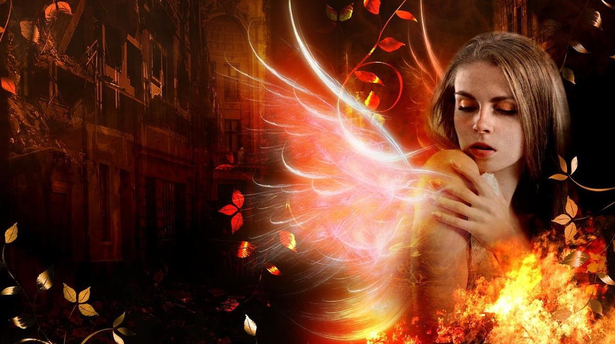 Девушка в огне осознанного страдания