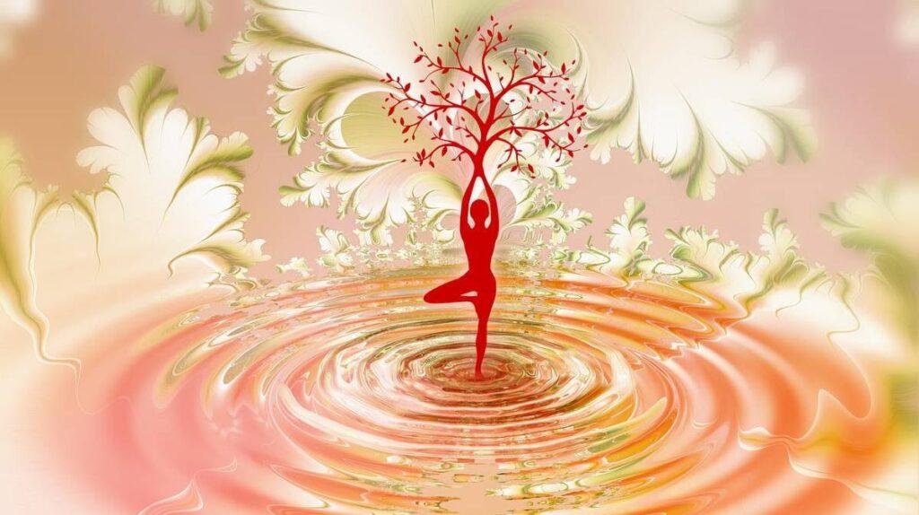 Силуэт женщины в пространстве Духа