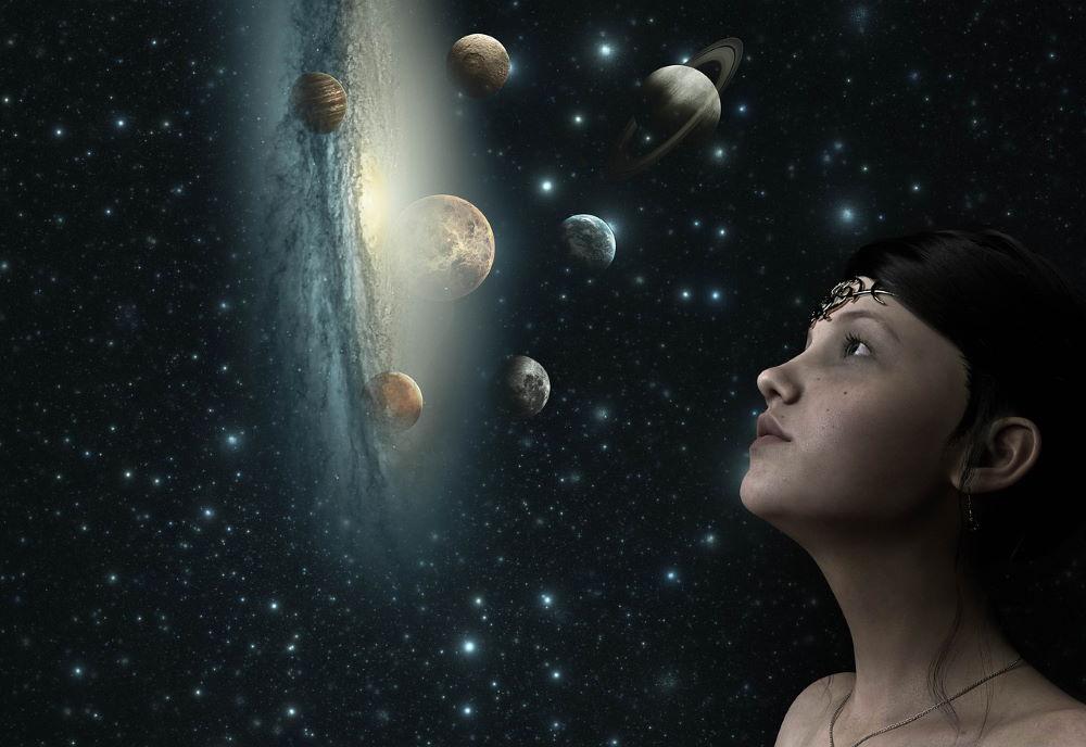 Женщина, реализующая в ходе развития Единение со Вселенной
