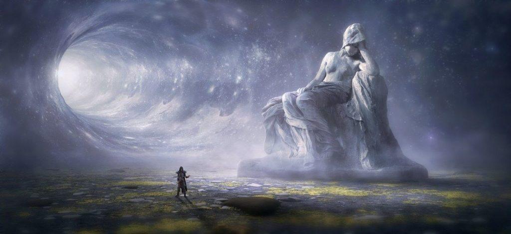 Статуя женщины, отвернувшейся от разверзшейся Глубины Мироздания
