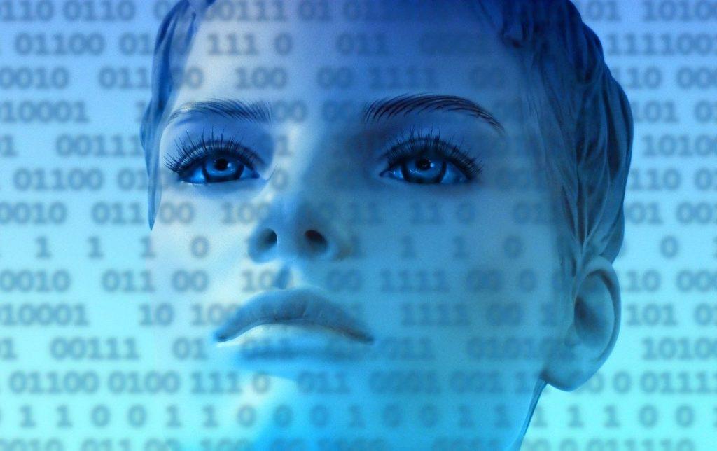 Женщина Присутствует за пределами цифрового мира