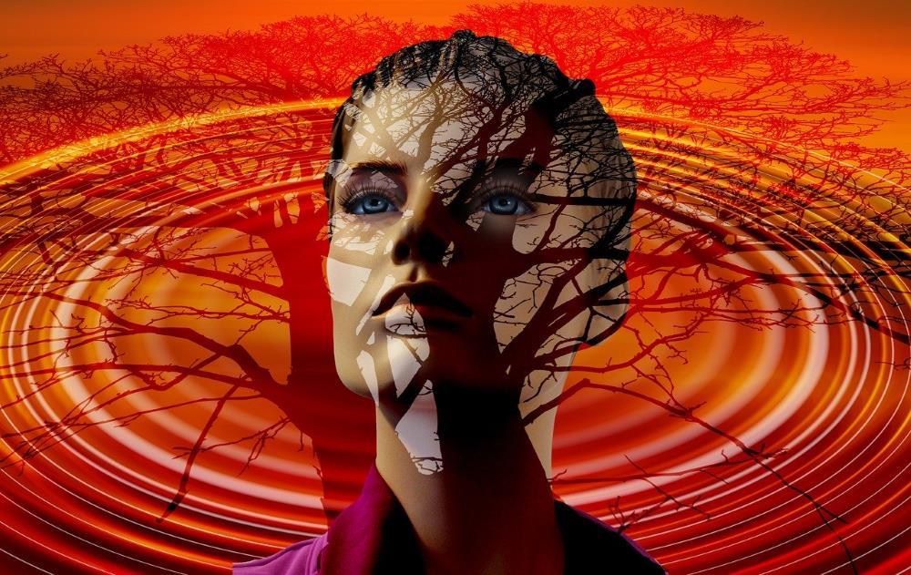 Лицо женщины, отделённой от мирского