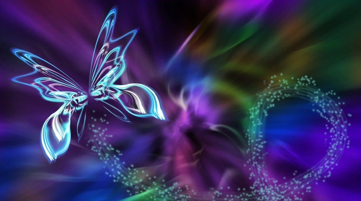 Бабочка с расправленными крыльями - символ духовной природы человека