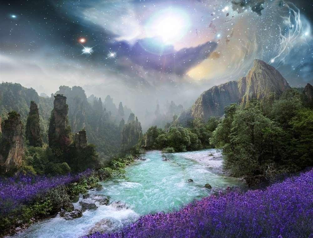 Красота земной природы (проявленной реальности), озарённой светом духа