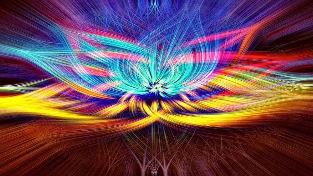 Распустившийся цветок, отображающий духовное раскрытие